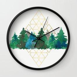 X-mas trees Wall Clock