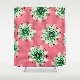 Emerald Lace Rose Shower Curtain