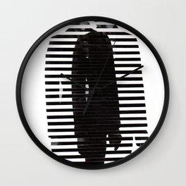 Deconstruction IV (Thin Man) Wall Clock