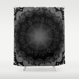 Dark Mandala #1 Shower Curtain