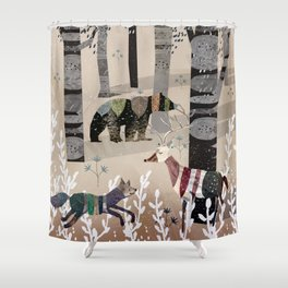 Forest in Sweater Shower Curtain