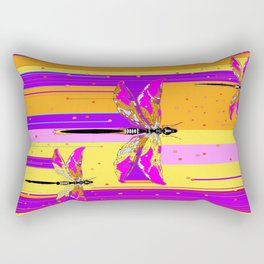 Purple-fuchsia  Dragonflies  Dreamscape Absract Rectangular Pillow