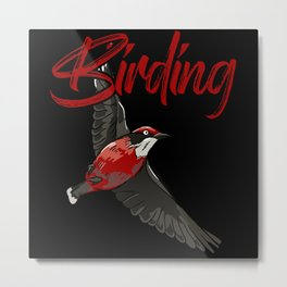 Birding Birdwatching Wildlife Wings Bird Metal Print