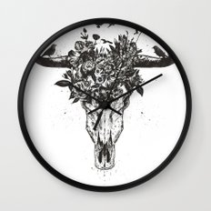 Dead summer (bw) Wall Clock