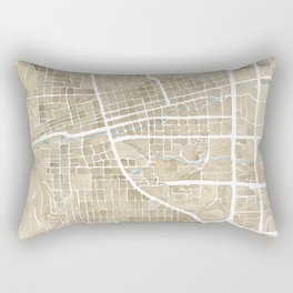 Boulder Colorado Watercolor Map Rectangular Pillow