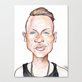 Macklemore Caricature Canvas Print