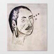 the blind man Canvas Print