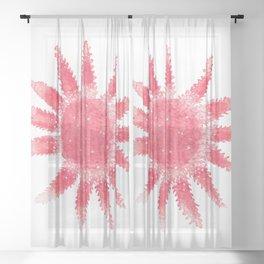 Starfish - Red Palette Sheer Curtain