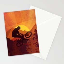 MTB Mountainbiker Stationery Cards
