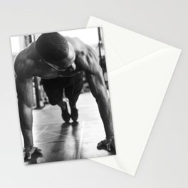 A Man At The Gym Stationery Cards