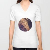 paris V-neck T-shirts featuring Paris (Delusion) by Tina Crespo