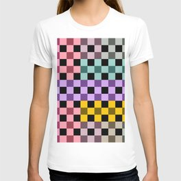 Colorful Checker 03 T-shirt