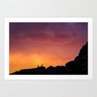 Joshua Tree Sunset Art Print