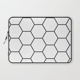 Minimalist Black and White Geometrical Pattern Laptop Sleeve