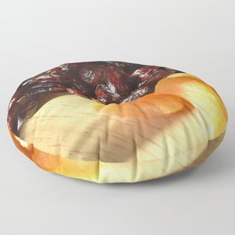 Apricots and cranberries Floor Pillow