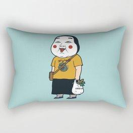 Joyful Girl Rectangular Pillow