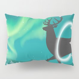 Magic Deer of the North Selas Aurora Borealis Pillow Sham