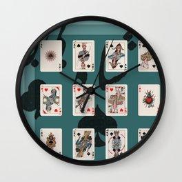 Persian Playing Cards Wall Clock