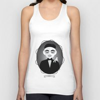 selena gomez Tank Tops featuring Gomez Addams by Love Ashley Designs