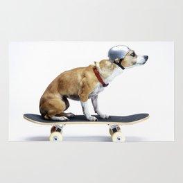 Skate Punk - Skateboarding Chihuahua Dog inTiny Helmet Rug