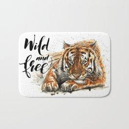 Tiger Wild and Free Bath Mat