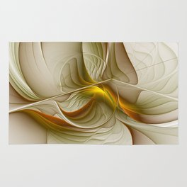 Abstract With Colors Of Precious Metals, Fractal Art Rug
