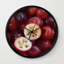 Red Berry Wall Clock