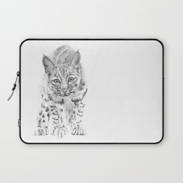 On the Prowl :: A Young Bobcat Laptop Sleeve