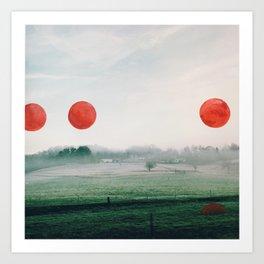 Painting on my photographs #1 Art Print
