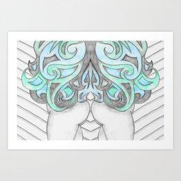 Cheeky Blues In Twos Art Print