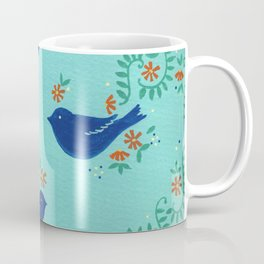 Blue Fiesta Bird Coffee Mug