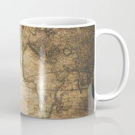 old nautical map with compass Coffee Mug