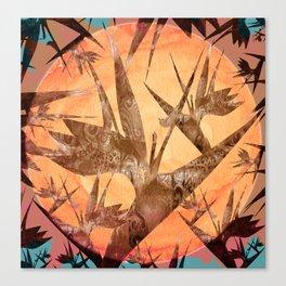 Bird of Paradise Sunset Canvas Print