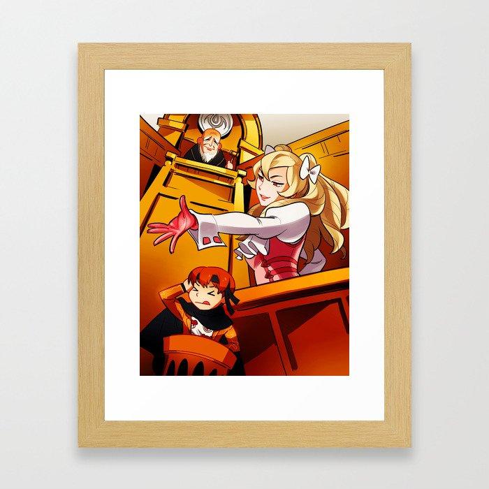 Dire Damsel Framed Art Print