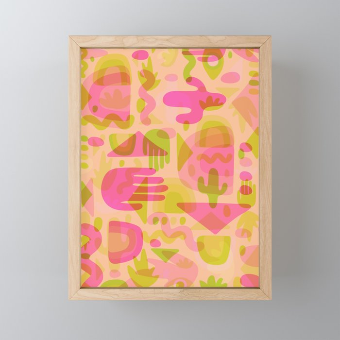 Colorful Cutout Print Framed Mini Art Print