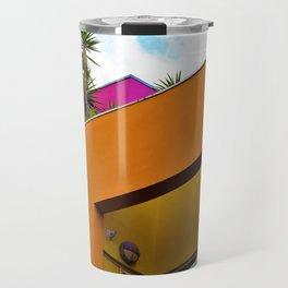 Slanted Orange Travel Mug