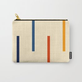 Abstract Minimal Retro Stripes Bikram Carry-All Pouch