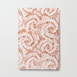 tie dye swirl - blush Metal Print