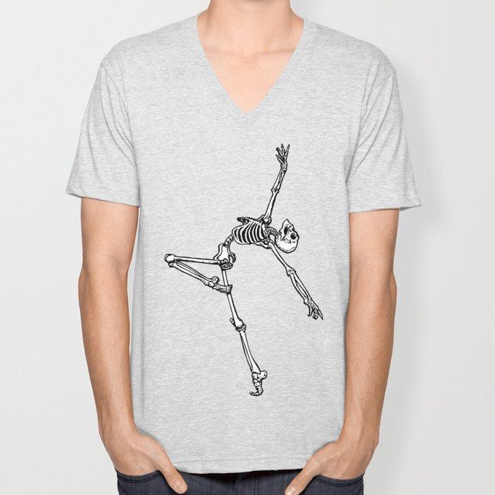 Ballet Skeleton Unisex V-Neck