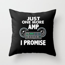 Funny Car Stereo Design Automotive Lover Throw Pillow