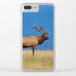 Bull elk in Jasper National Park Clear iPhone Case