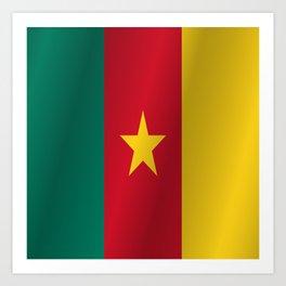 Flag of Cameroon Art Print