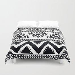 Tribal black and white Duvet Cover