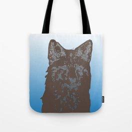Fox Woodcut Tote Bag
