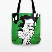 invader zim Tote Bags featuring Invader Zim by JekyllDraws