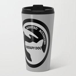 Animal Assisted Activities  - THERAPY DOG logo black white Travel Mug