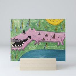 Squareland -squocodrile Mini Art Print