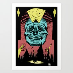Visitors from planet Ass1  Art Print