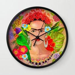 Frida Kahlo painting Wall Clock