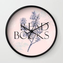 Read Books vintage typography Wall Clock